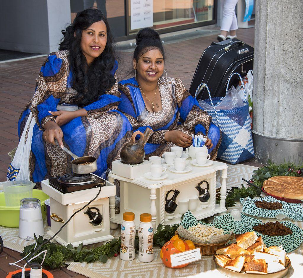 Eritreische Kaffeezeremonie