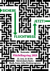 Kantonaler Flüchtlingstage 2019 «Sichere Fluchtwege jetzt!»